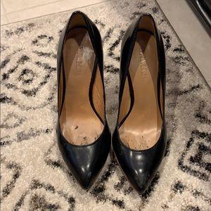 Lamb black heels